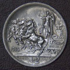 2 Lire 1914 - Rovescio