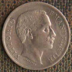 1 Lira 1901 - Rovescio