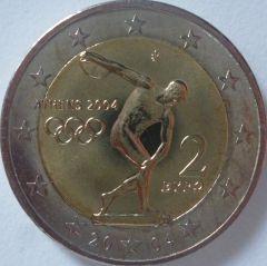 2 euro commemorativo Grecia 2004