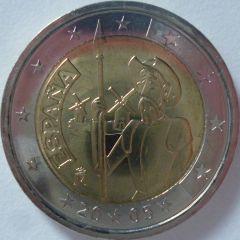 2 euro commemorativo Spagna 2005