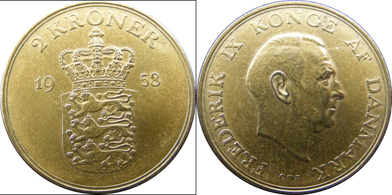 Denmark g km838.2 2 Kroner