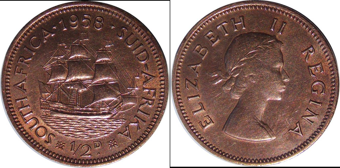South African Union b km45 1/2 Penny