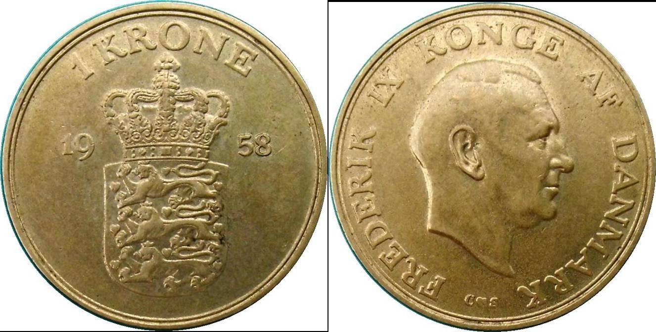 Denmark f km837.2 1 Krone