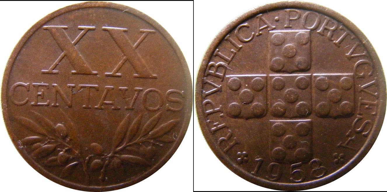 Portugal b km584 20 Centavos