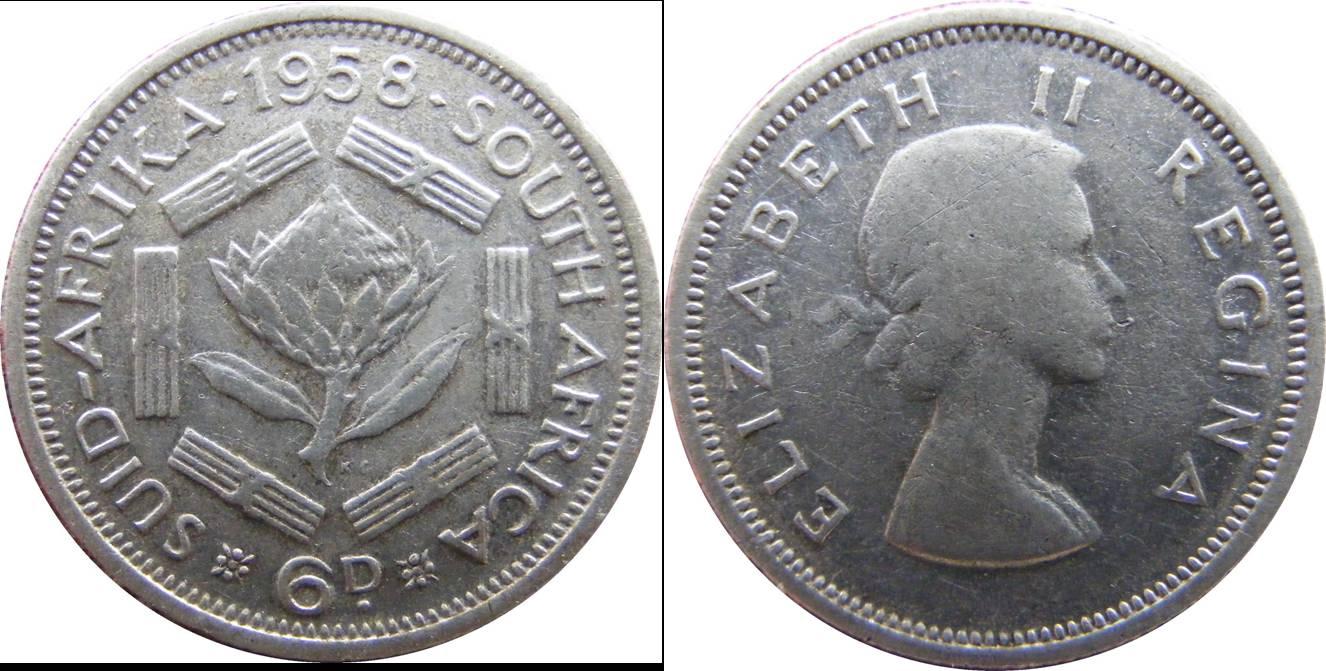 South African Union e km48 6 Pence