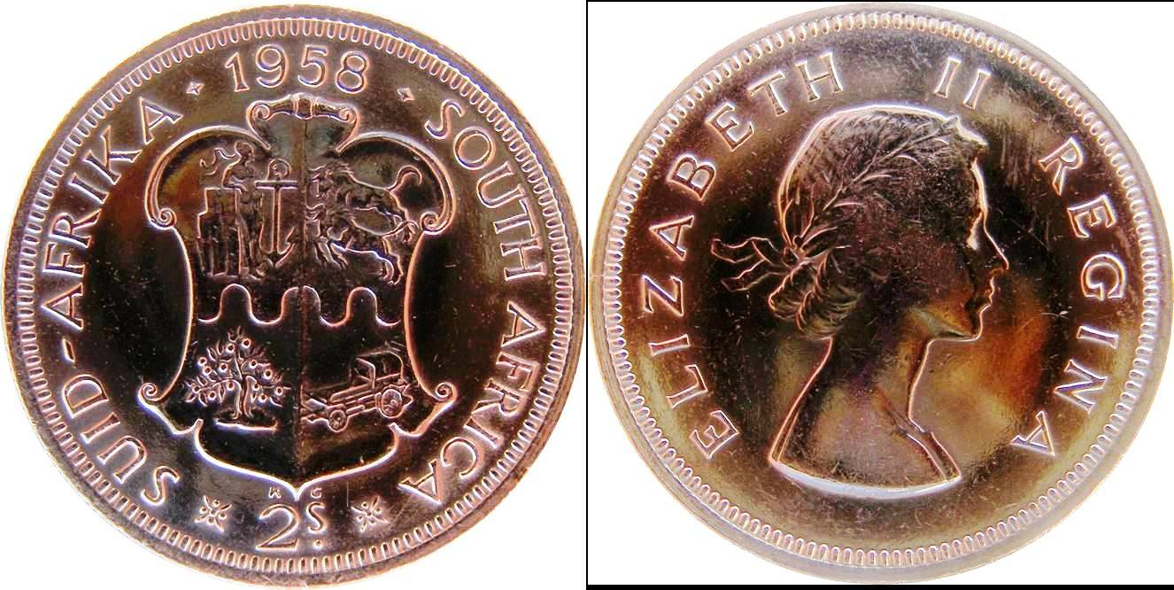 South African Union g km50 2 Shillings