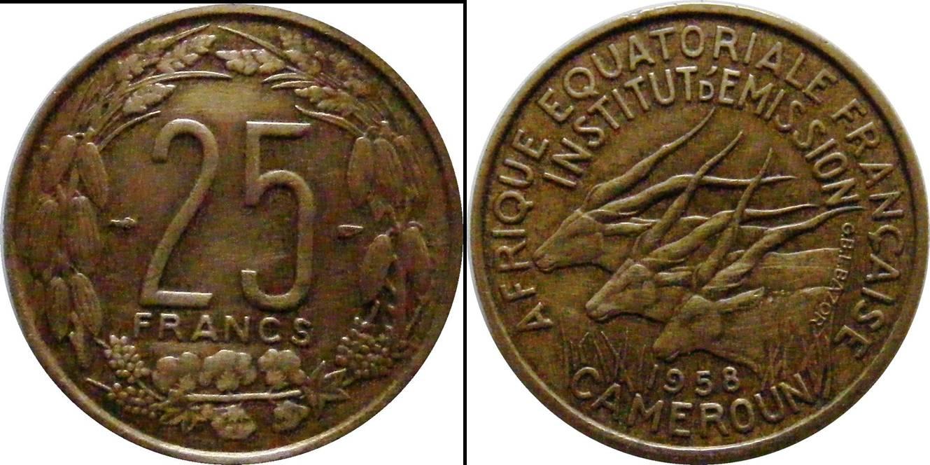 Cameroon c km12 25 Francs