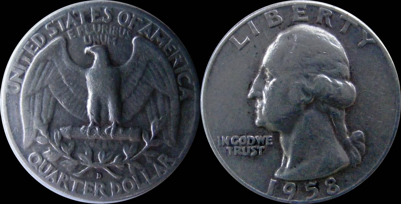 USA d km164 quarter dollar