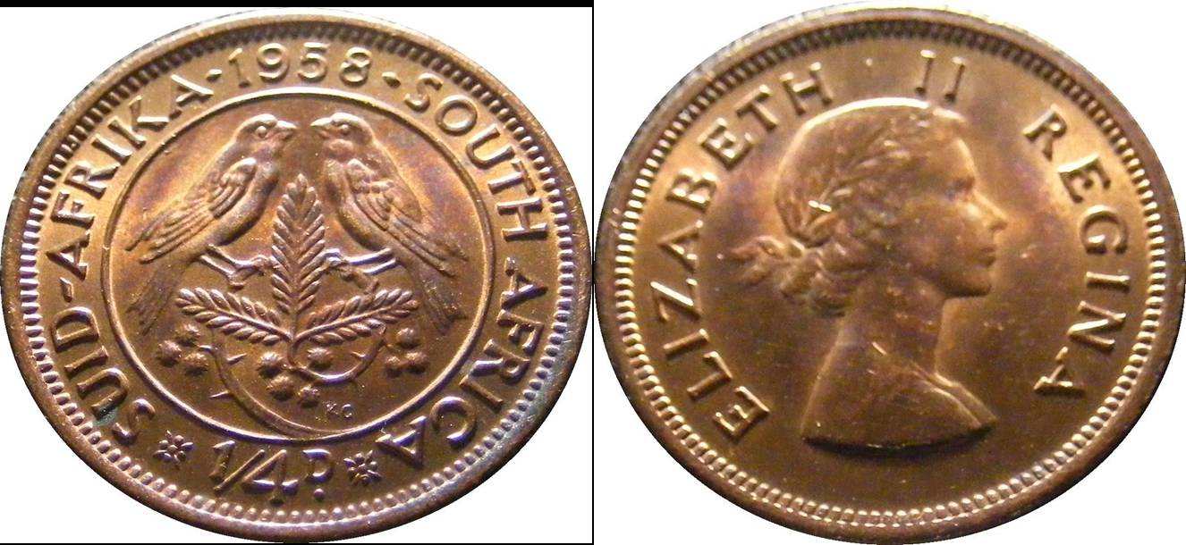 South African Union a km44 1/4 Penny Farthing