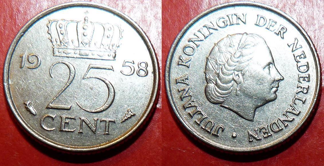 Netherlands d km183 25 Cents