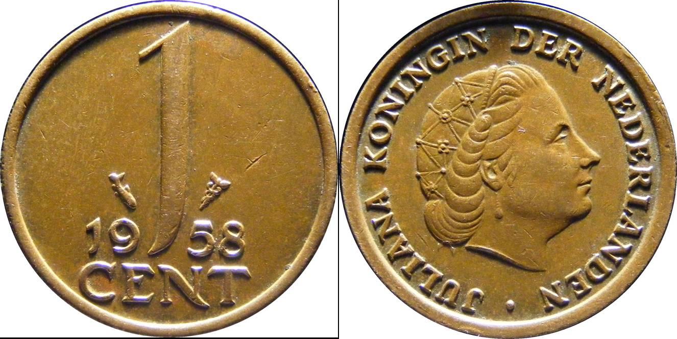 Netherlands a km180 1 Cent