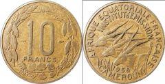 Cameroon b km11 10 Francs