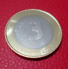 3 euro Slovenia 2011 - Retro