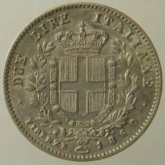 2 Lire Vitt.Em. II 1860 Firenze r