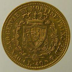 40 Lire 1822 Carlo Felice r