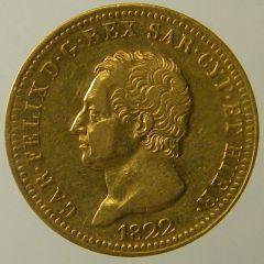 40 Lire 1822 Carlo Felice d