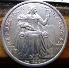 2 Francs Nuova Caledonia