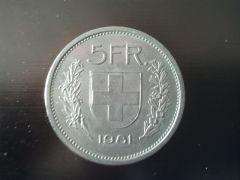 5 Franchi Svizzeri Fronte 1981