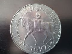 Medaglia Regina Elisabetta Fronte 1977