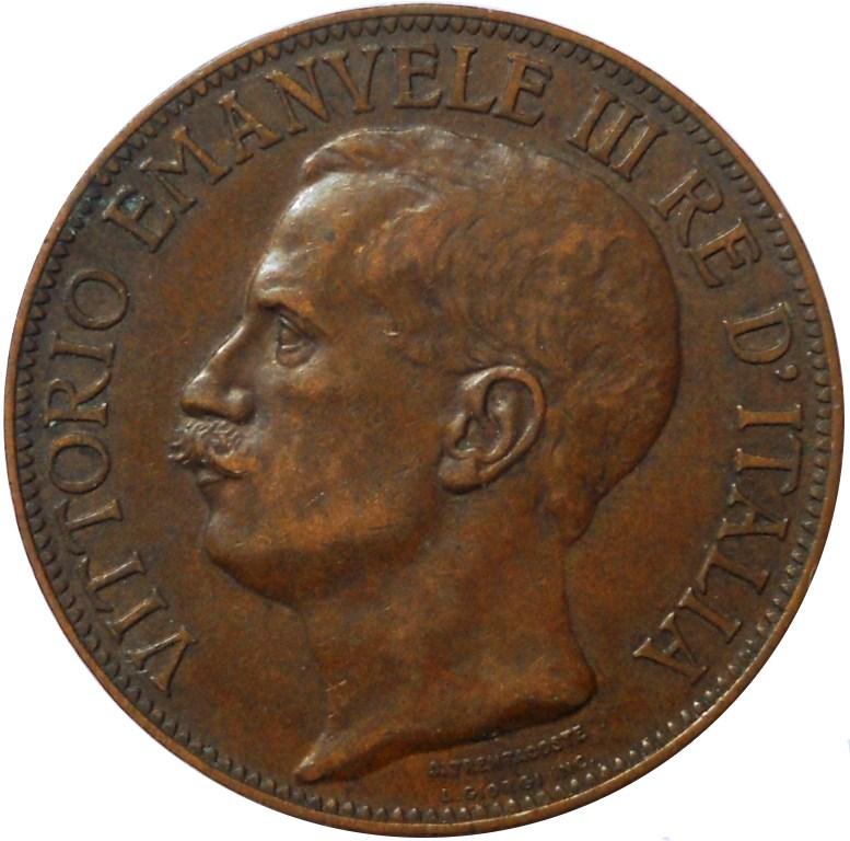 10 centesimi cinquantenario 1911