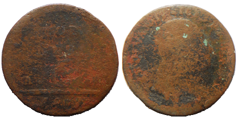 Fronte e Retro 6 Tornesi 1803 A. P.