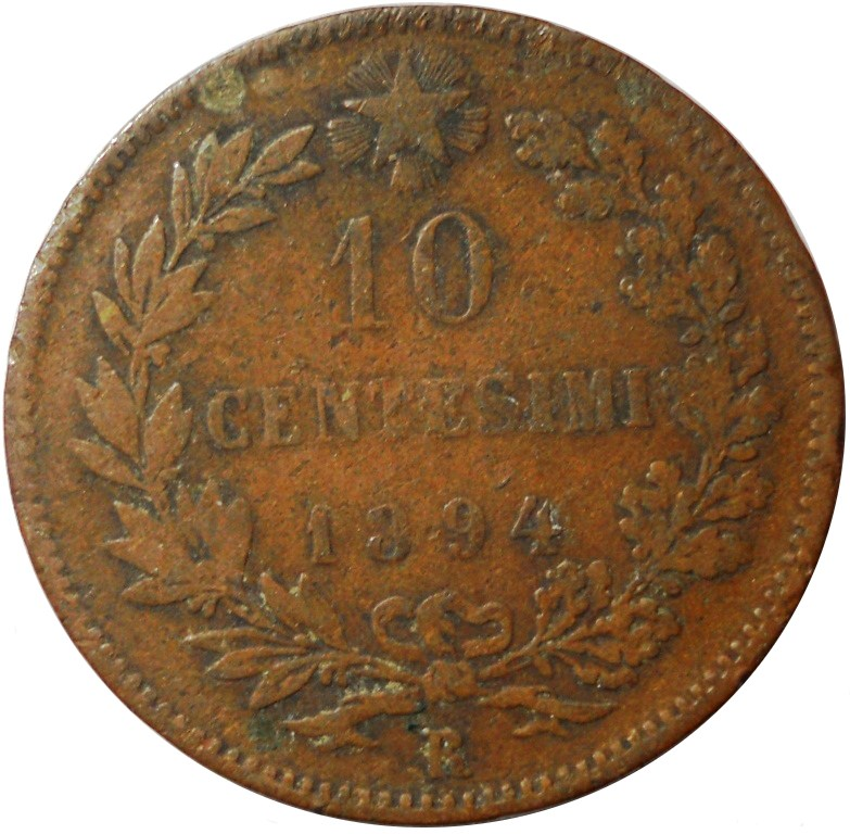 10 centesimi Umberto I 1894 Roma