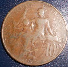 Francia 10 Centesimi 1906