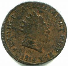 Ferdinando III° 10 Grana 1814