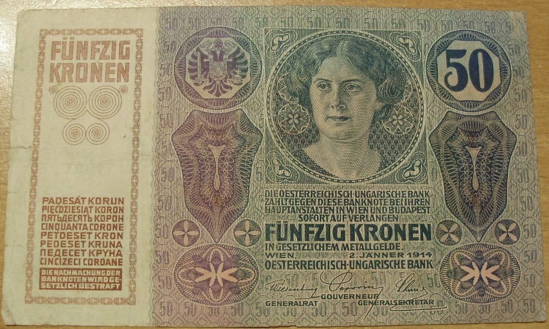 50 corone serie 1912-1915