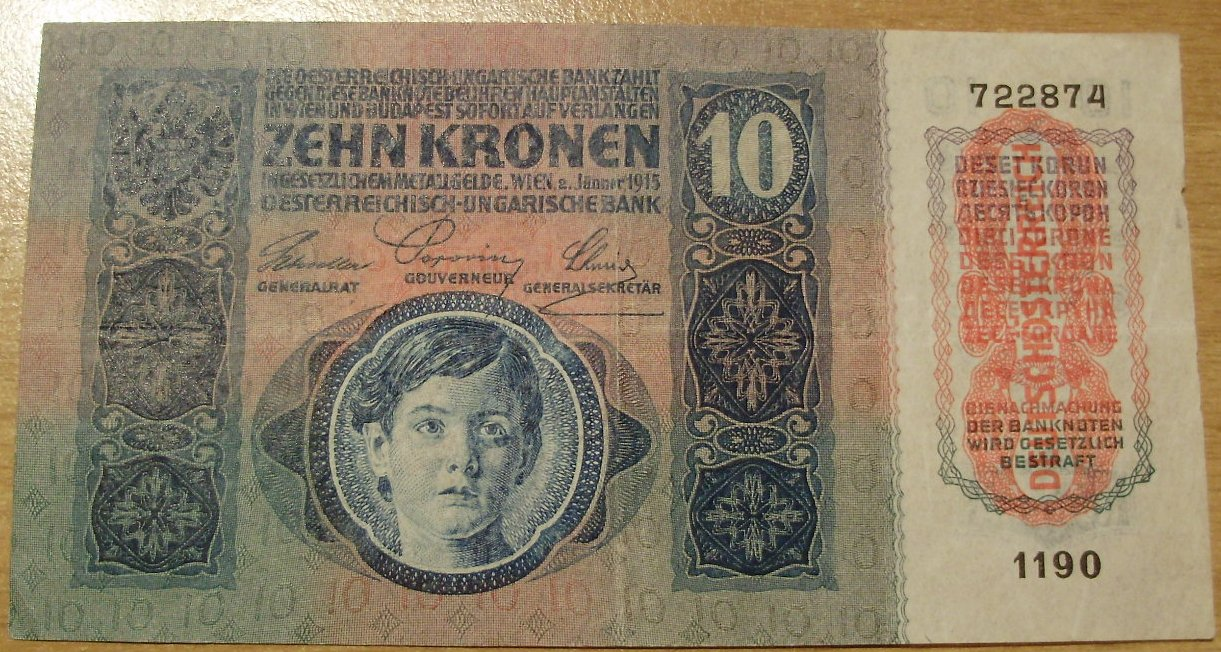 10 corone serie 1912-1915