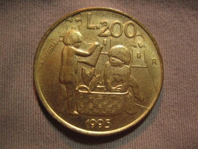 200 Lire San Marino 1995 D