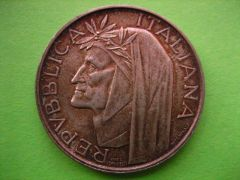 500 Lire Dante 1965 D