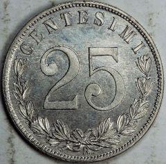 25 centesimi 1903 R D/