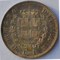 1 lira 1863 M R/
