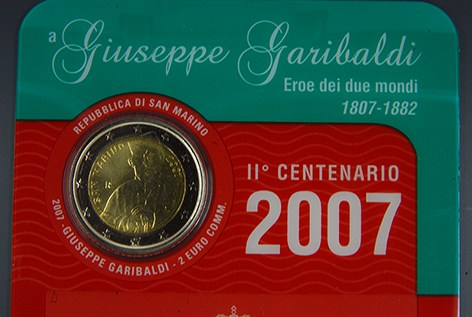 SAN MARINO 2007 - Giuseppe Garibaldi Tiratura 130.000.JPG