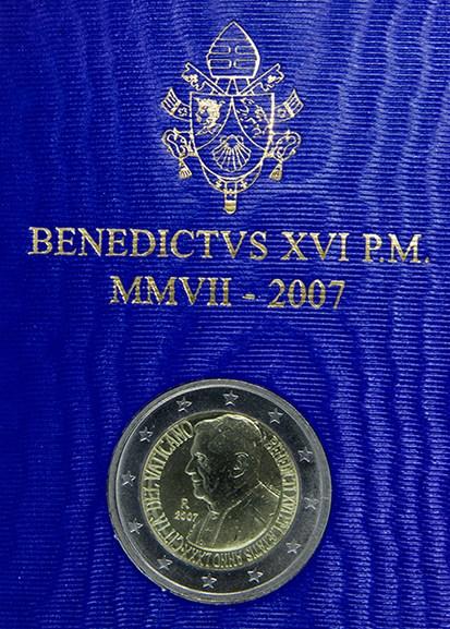 VATICANO 2007 -  80° Genetliaco di S.S. Benedetto XVI Tiratura 85.000.JPG