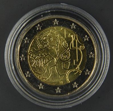FINLANDIA 2010 150° anniv. Moneta finlandese Tiratura 1.560.000