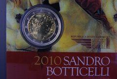 "SAN MARINO 2010 - ""500° anniv. morte Sandro Botticelli"" Tiratura 130.000.JPG"