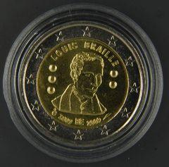 """BELGIO 2009  """"200° anniv. Nascita Louis Braille"""" Tiratura 5.000.000"""