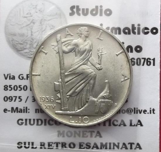 10  lire impero 1936 1