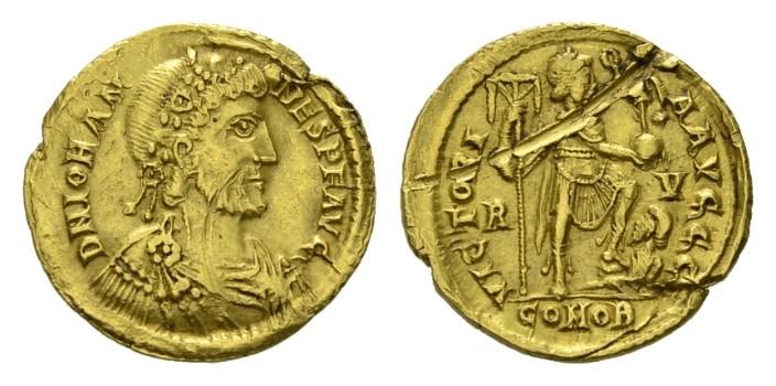 NN 3 Lot 184 - Johannes, 423-425 Solidus, Ravenna 423-425.