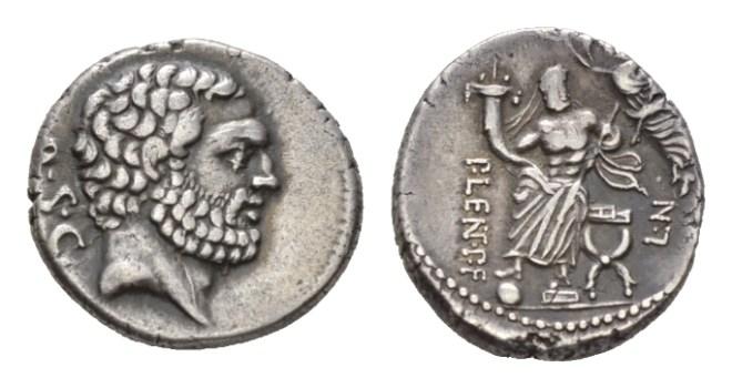 NN 9 Lot 179 - P. Cornelius Lentulus Spinther. Denarius circa 74