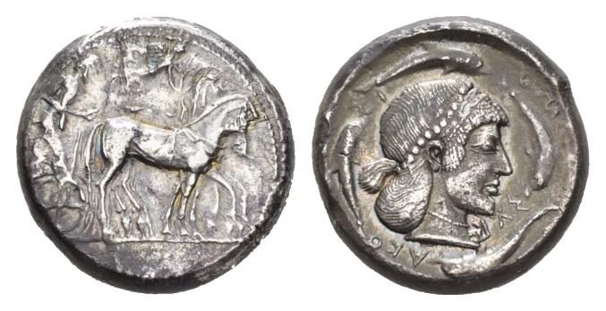 NN 9 Lot 20 - Sicily, Syracuse Tetradrachm circa 478-472