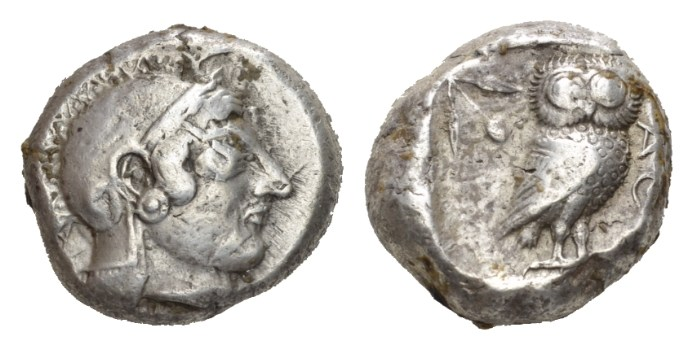 NN 9 Lot 49 - Attica, Athens Tetradrachm Circa 500-485 BC.