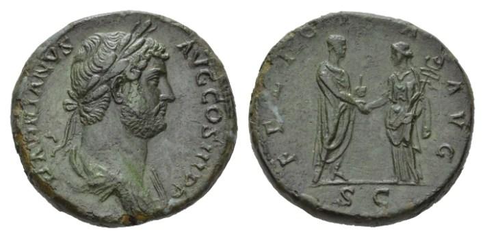 NN 9 Lot 229 - Hadrian, 117-138 Sestertius circa 134-138