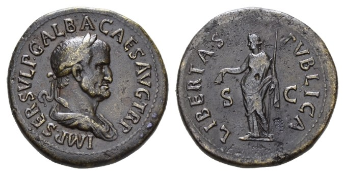 NN6 Lot 124 - Galba, 68-69 Sestertius late summer 68