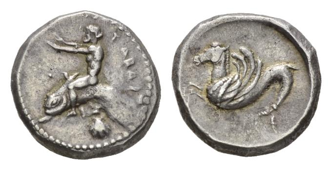 NN6 Lot 5 - Calabria, Tarentum Nomos circa 500-480 - Ex NAC sale 59, April 2009, 1537.