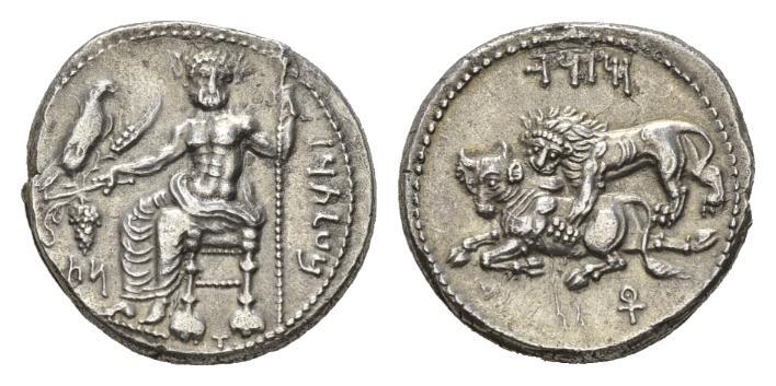 NN6 Lot 50 - Cilicia, Mazaios, 361-334 Tarsus Stater circa 361-344