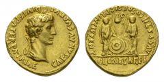 NN6 Lot 114 - Octavian as Augustus, 27 BC – 14 AD Aureus Lugdunum circa 2 BC-4 AD