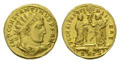 NN 2 Lot 166 - Constantine I, 307-337 Medallion of 1 1/2 solidi, Thessalonica circa 315.